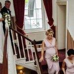 Arriving for wedding ceremony